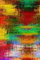RugRita Kare Renkler Dijital Baskı Halı-2