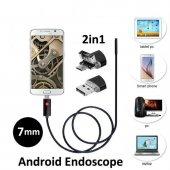 10 Metre 2 İn 1 Micro Usb Yılan Endoskop Kamera Sert Kablolu