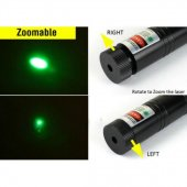 Yeşil Lazer Pointer Şarjlı Kilitli Zoom Yakıcı 1000mW-7