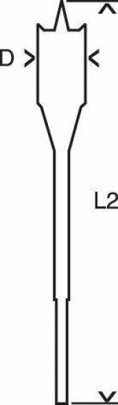 Bosch 24X152 Altıgen Yassı Ahşap Maktap Ucu-3