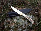 Av Bıçağı 22cm Geyik Boynuzu Sap 4mm Çelik