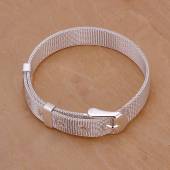 Frilly Gümüş Kaplama Örgü Bileklik (FEBT239AB)-3