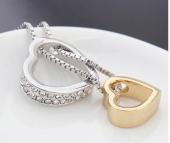 Frilly Kristal Taşlı Altın Kaplama Kalp Kolye (FKK721)-3