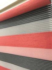 En Ucuz Orjinal Brillant Zebra Perde Kırmızı...