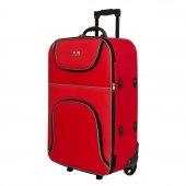 Enzelo Stil Kumaş Büyük Boy Valiz Bavul-3