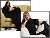 Giyilebilir Kollu Battaniye - Siyah