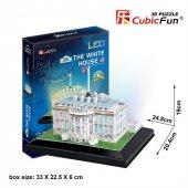 Cubic Fun 3d 56 Parça Led Puzzle Beyaz Saray...