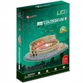 Cubic Fun 3D 185 Parça Puzzle Colosseum Arena - İtalya (Led Işıkl-3