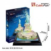 Cubic Fun 3d 37 Parça Puzzle Özgürlük Anıtı Abd...