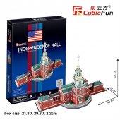 Cubic Fun 3D 43 Parça Puzzle Independence Hall Bağımsızlık Salonu