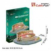 Cubic Fun 3D 185 Parça Puzzle Colosseum Arena - İtalya (Led Işıkl