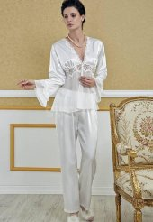 Versace 6111 Bayan 6 Lı Saten Takım-3