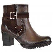 Nstep 3094 Bayan Topuklu Fermuarlı Termal Kışlık Bot Ayakkabı