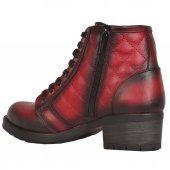 Mp 172-4484 Bağcıklı Fermuarlı Termal Bayan Kısa Bot Ayakkabı-2