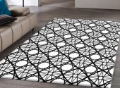Rugrita Geometrik Halkalar Dekoratif Halı