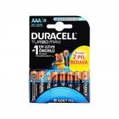 Duracell Turbo Max Alkaline 6+2 AAA İnce Pil 8 li