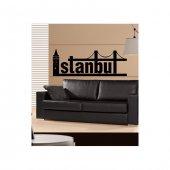 Istanbul Type 2 Kadife Duvar Sticker 127x46 Cm