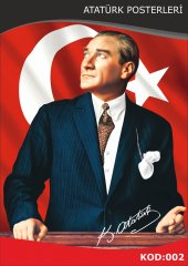Atatürk Resmi Raşel Kumaş 300x450