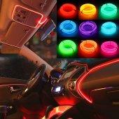 Araç Araba İçi Torpido Ledi Şerit Renkli İp Neon İp Led 3 Metre