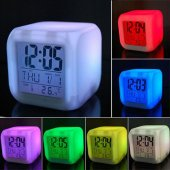 7 Renk Değiştiren Alarmlı Dijital Küp Masa...