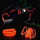 Turuncu Araç İçine Neon Kablo 2 Metre 378817
