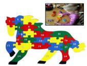 Çocuk Oyuncak Ahşap Öğretici Puzzle Hayvanlar Alemi Asorti