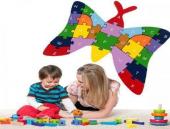 Çocuk Oyuncak Ahşap Öğretici Puzzle Hayvanlar Alemi Asorti-3