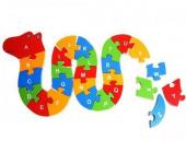 Çocuk Oyuncak Ahşap Öğretici Puzzle Hayvanlar Alemi Asorti-4