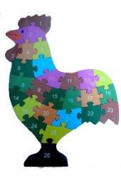 Çocuk Oyuncak Ahşap Öğretici Puzzle Hayvanlar Alemi Asorti-8