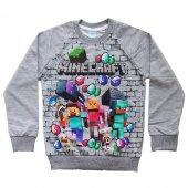DOBAKİDS Mevsimlik Erkek Çocuk Minecraft Sweatshirt 5-13 Yaş