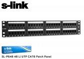 S Link Sl P648 48 Port Cat6 Utp Patch Panel