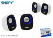 Snopy Sn 120 Beyaz Mavi Usb Speaker