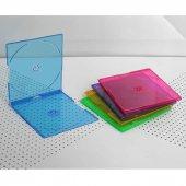 ELBA QD-521D.03 2Lİ RENKLİ 5,2mm Slim CD Kutusu 10
