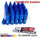 Sivri Bijon Takımı Blox Mavi Renkli Uzun Bijon