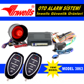 Oto Alarm Kumandalı İnwells 3863 12 Volt