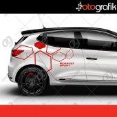 Otografik Rs Renault Clio Sport Oto Kapı Sticker S...