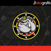 Otografik Sherıff Bulldog Oto Stıcker
