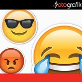 Otografik Whatsapp Emoji Renkli Oto Sticker