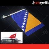 Otografik Boşnak Araç Bayrağı Oto Bayrak