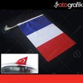 Otografik Fransız Araç Bayrağı Oto Bayrak