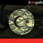 Otografik Ay Yıldız Kamuflaj Patch Oto Sticker
