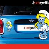 Otografik Şirine Şirinler Oto Sticker