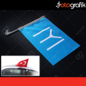 Otografik Kayı Boyu Bayrağı Oto Bayrak