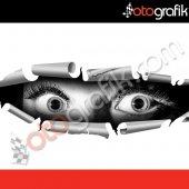 Otografik Bagajda Gizlenen Kadın 3d Oto Stıcker