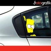 Otografik Bart Simpson Oto Stıcker