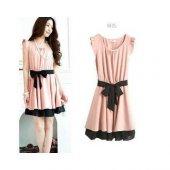 Japon Style Kadın Elbise Kuşaklı Tip