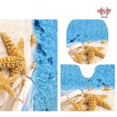 Melay Deniz Yıldızı Banyo Paspas Klozet Set