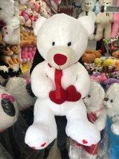 110cm Dev Boy Kalpli Büyük Boy Beyaz Peluş Ayı,...
