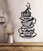 Metal Duvar Dekoru Kahve Fincanı