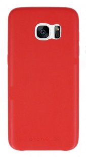 Totu Design Samsung S7 Deri Ruber Kılıf Kırmızı